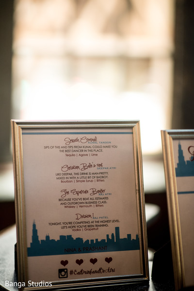 Welcome Dinner Decor in Chicago, IL Indian Wedding by Banga Studios