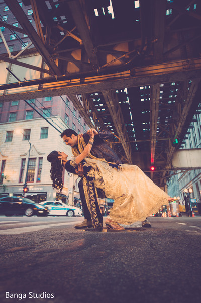 Pre-Wedding Portrait in Chicago, IL Indian Wedding by Banga Studios