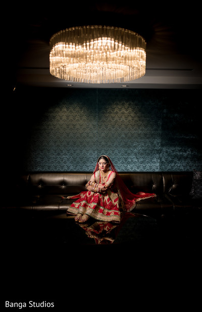 Bridal Portrait in Chicago, IL Indian Wedding by Banga Studios
