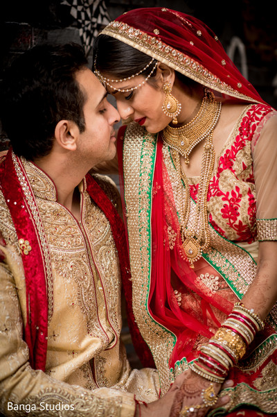 First Look in Chicago, IL Indian Wedding by Banga Studios