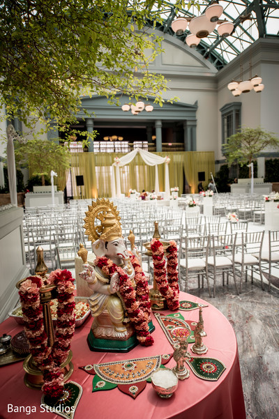 Ceremony Decor in Chicago, IL Indian Wedding by Banga Studios