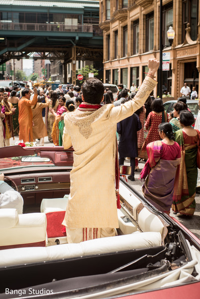 Baraat in Chicago, IL Indian Wedding by Banga Studios