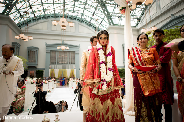 Ceremony in Chicago, IL Indian Wedding by Banga Studios