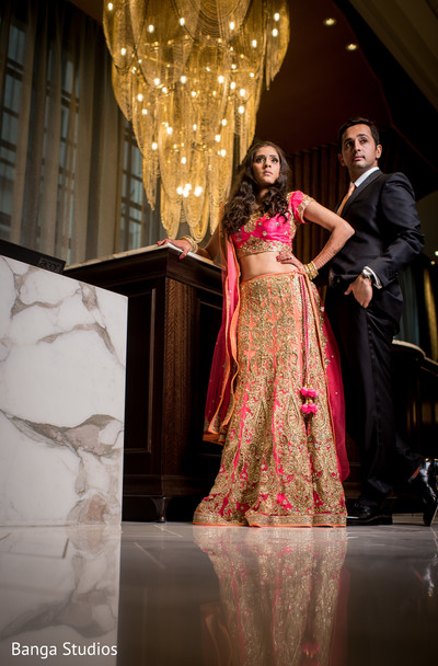 Reception Portrait in Chicago, IL Indian Wedding by Banga Studios