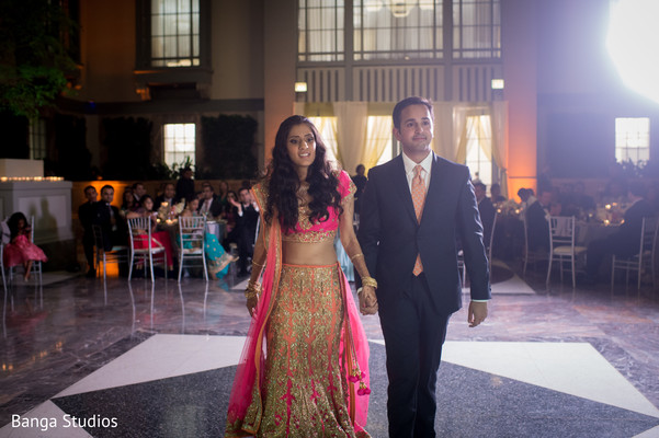 Reception in Chicago, IL Indian Wedding by Banga Studios