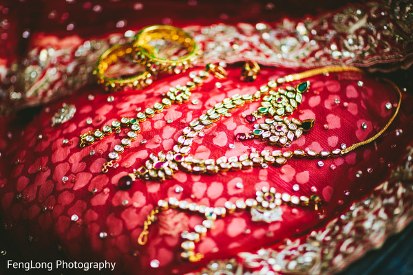 Bridal Jewelry in Atlanta, GA Indian Wedding by FengLong Photography