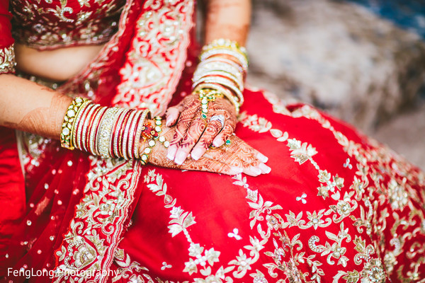 Bridal Portrait in Atlanta, GA Indian Wedding by FengLong Photography