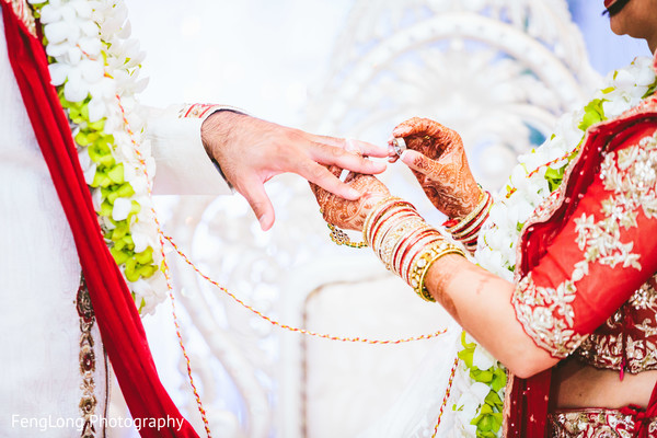 Ceremony in Atlanta, GA Indian Wedding by FengLong Photography