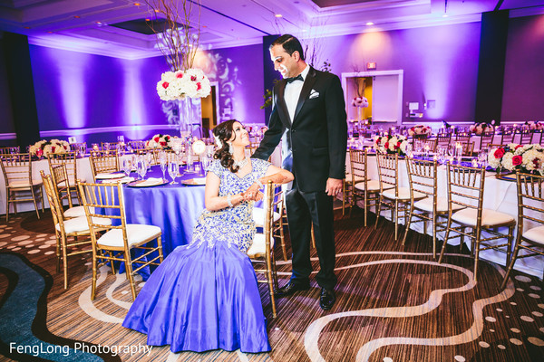 Reception Portrait in Atlanta, GA Indian Wedding by FengLong Photography