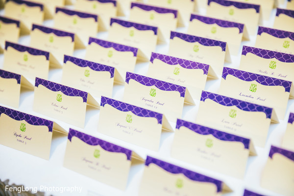 Place Cards in Atlanta, GA Indian Wedding by FengLong Photography