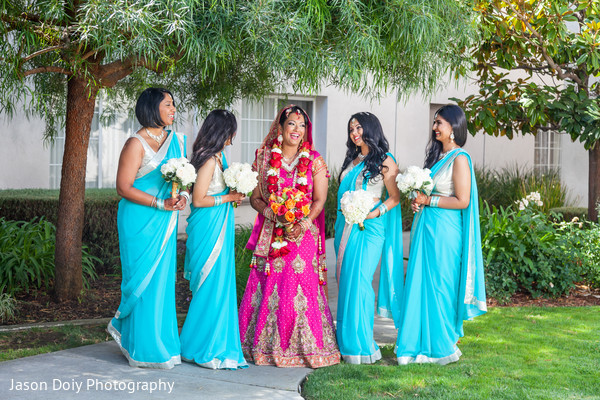 indian bridal party,indian wedding party,indian wedding party portraits,indian bridesmaids,indian sari