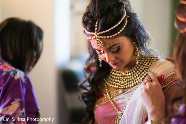 Getting Ready in Santa Susana, CA Indian Wedding by Lin & Jirsa Photography