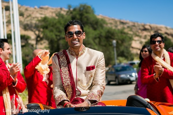 Baraat in Santa Susana, CA Indian Wedding by Lin & Jirsa Photography