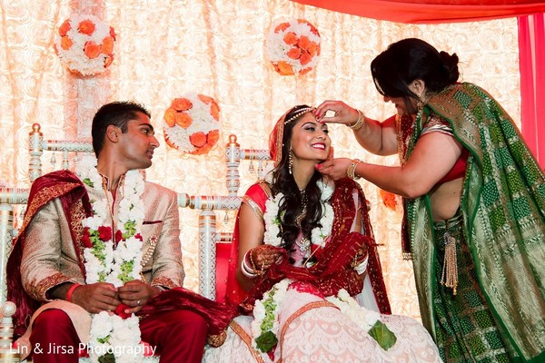 Ceremony in Santa Susana, CA Indian Wedding by Lin & Jirsa Photography