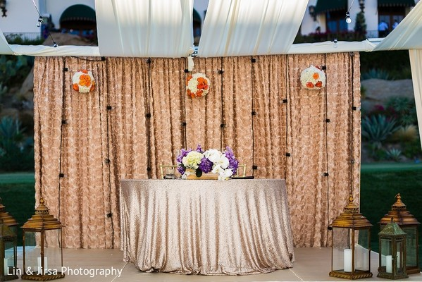 Sweetheart Table in Santa Susana, CA Indian Wedding by Lin & Jirsa Photography