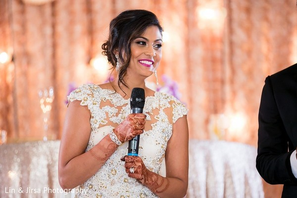 Reception in Santa Susana, CA Indian Wedding by Lin & Jirsa Photography