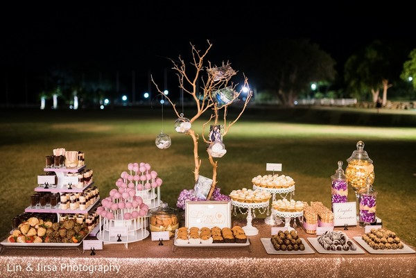 Dessert Table in Santa Susana, CA Indian Wedding by Lin & Jirsa Photography