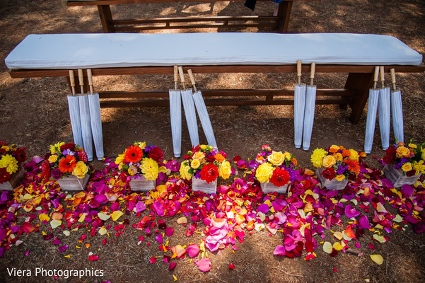 Ceremony Decor in Kenwood, CA Indian Fusion Wedding by Viera Photographics