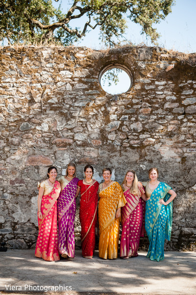 Bridal Party Portrait in Kenwood, CA Indian Fusion Wedding by Viera Photographics