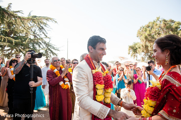 Ceremony in Kenwood, CA Indian Fusion Wedding by Viera Photographics