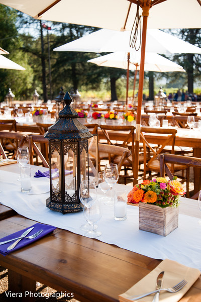 Luncheon Decor in Kenwood, CA Indian Fusion Wedding by Viera Photographics