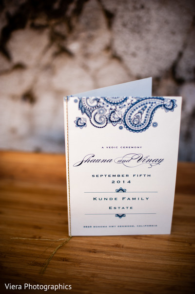 Stationery in Kenwood, CA Indian Fusion Wedding by Viera Photographics