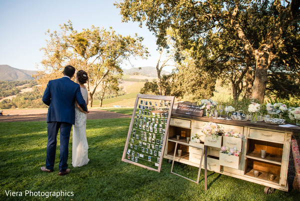 Reception Portrait in Kenwood, CA Indian Fusion Wedding by Viera Photographics