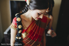 indian bride getting ready,indian bride hairstyles,south indian bride hairstyles,indian weddings