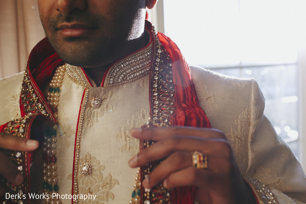 Groom Getting Ready in Columbus, OH Indian Wedding by Derk's Works