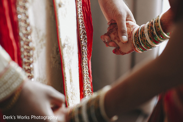 First Look in Columbus, OH Indian Wedding by Derk's Works