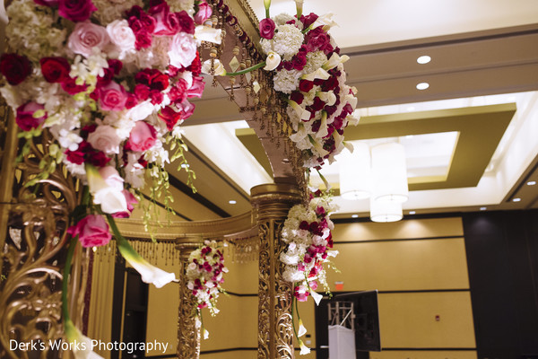 Ceremony Decor in Columbus, OH Indian Wedding by Derk's Works