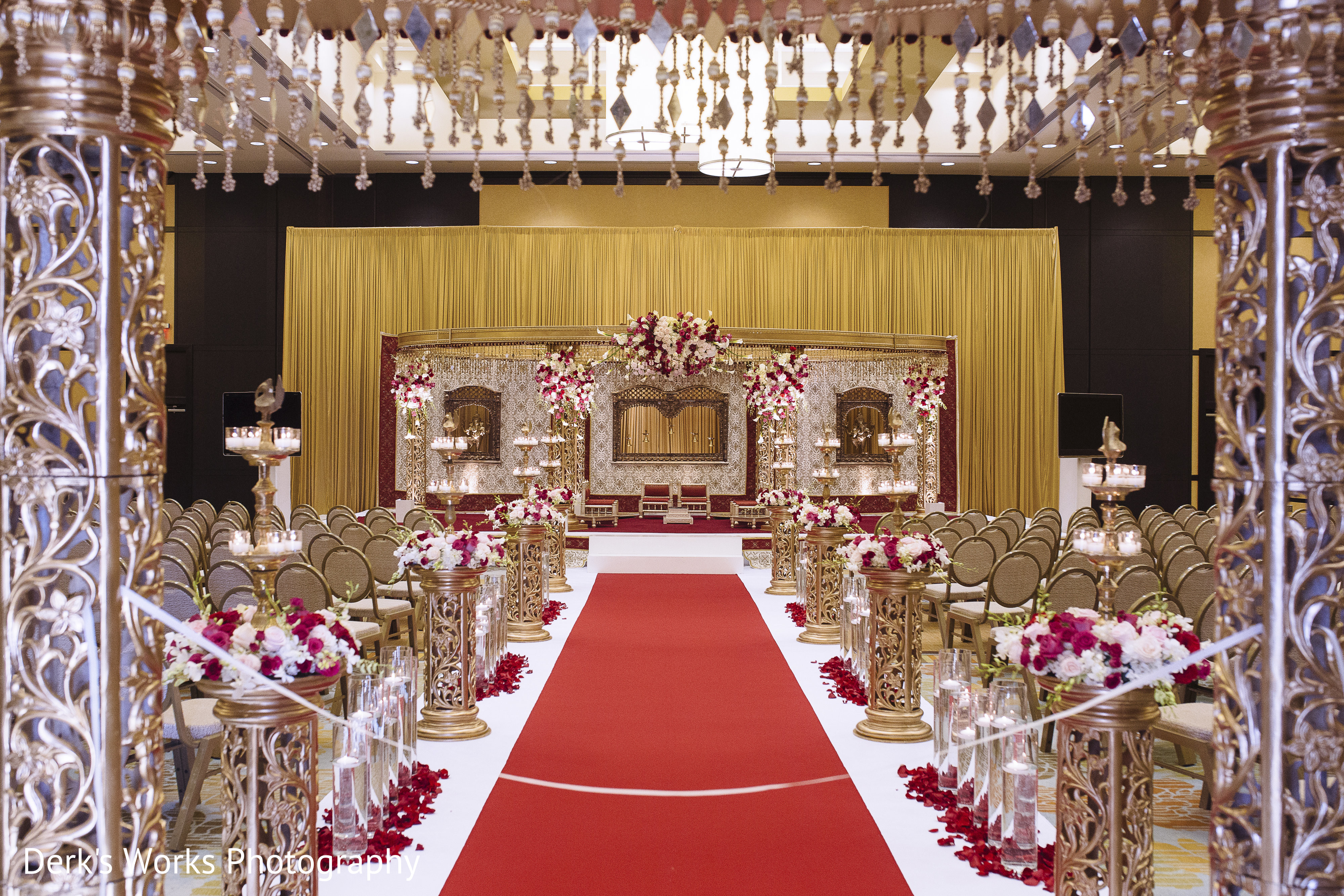 Ceremony Decor In Columbus OH Indian Wedding By Derks Works