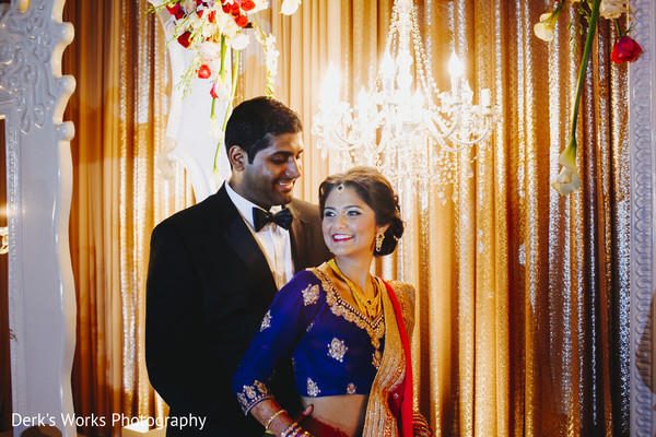 Reception Portrait in Columbus, OH Indian Wedding by Derk's Works