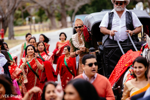 Baraat in Horseshoe Bay, TX South Asian Wedding by VEK Photo