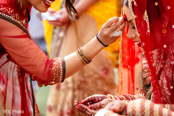 Ceremony in Horseshoe Bay, TX South Asian Wedding by VEK Photo