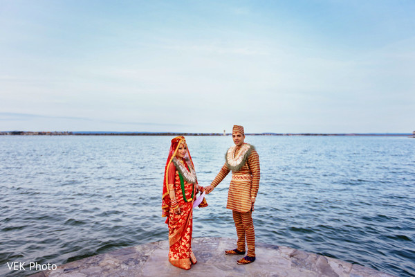 Wedding Portrait in Horseshoe Bay, TX South Asian Wedding by VEK Photo