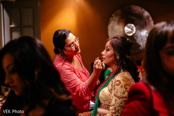Getting Ready in Horseshoe Bay, TX South Asian Wedding by VEK Photo