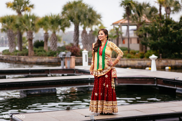 Bridal Portrait in Horseshoe Bay, TX South Asian Wedding by VEK Photo