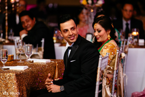 Reception in Horseshoe Bay, TX South Asian Wedding by VEK Photo