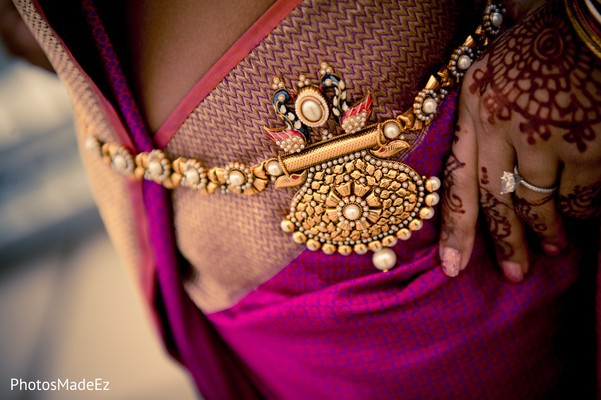 Getting Ready in Jersey City, NJ Indian Wedding by PhotosMadeEz