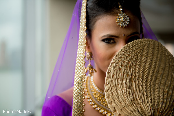 Bridal Portrait in Jersey City, NJ Indian Wedding by PhotosMadeEz