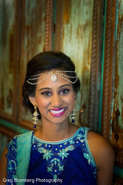 Bridal Portrait in Fischer, TX Indian Wedding by Greg Blomberg Photography