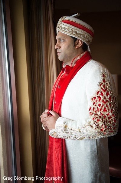 Groom Getting Ready in Fischer, TX Indian Wedding by Greg Blomberg Photography