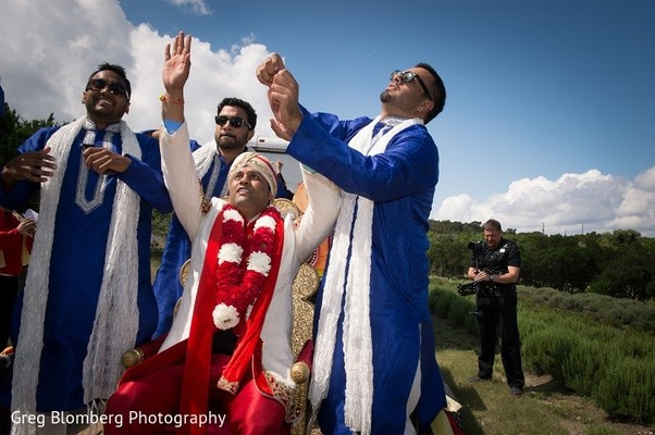 Baraat in Fischer, TX Indian Wedding by Greg Blomberg Photography