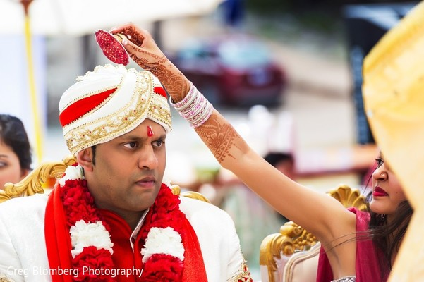 Ceremony in Fischer, TX Indian Wedding by Greg Blomberg Photography