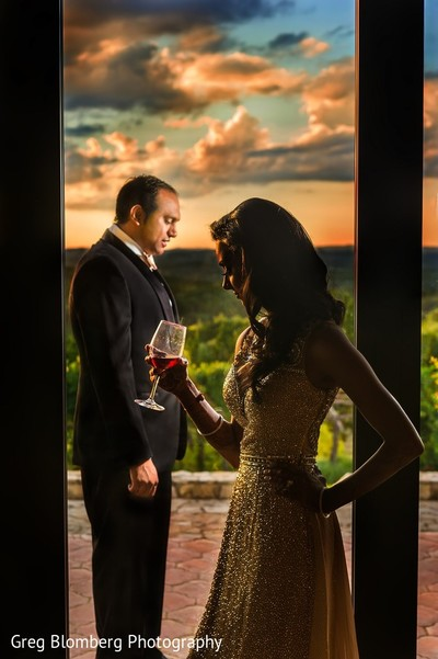 Reception Portrait in Fischer, TX Indian Wedding by Greg Blomberg Photography
