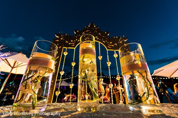 Floral & Decor in Fischer, TX Indian Wedding by Greg Blomberg Photography