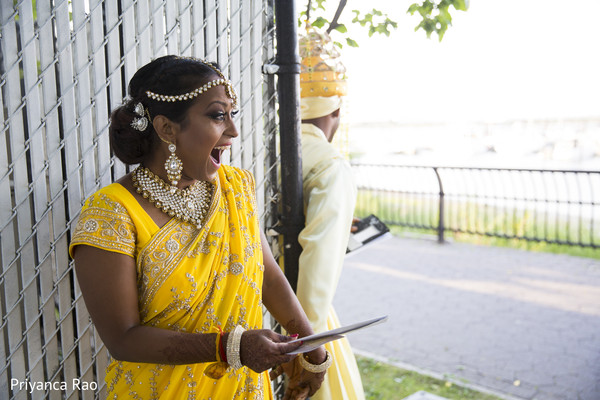 First Look in Staten Island, NY Indian Wedding by Priyanca Rao Photography