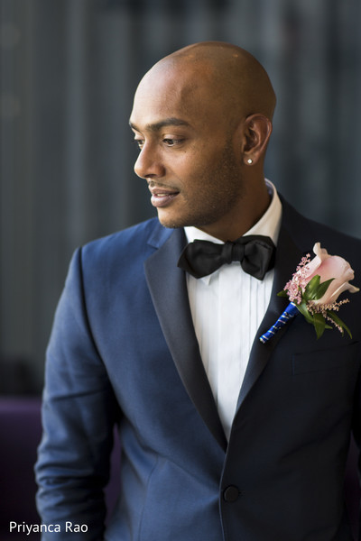 Groom Portrait in Staten Island, NY Indian Wedding by Priyanca Rao Photography