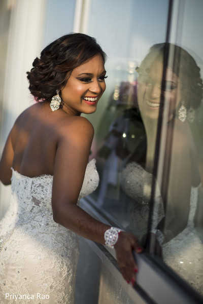 Reception Portrait in Staten Island, NY Indian Wedding by Priyanca Rao Photography